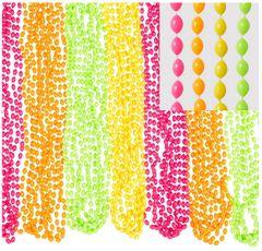 Black Light Neon Bead Necklaces, 50ct