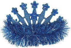 Blue Star Tinsel Tiara