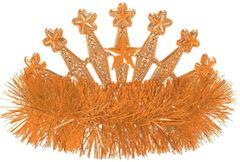 Orange Star Tinsel Tiara