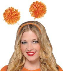 Orange Pom-Pom Head Bopper