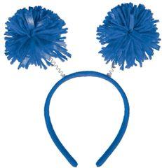 Blue Pom-Pom Head Bopper