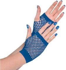 Blue Fishnet Glovelettes