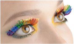 Rainbow Tinsel Eyelashes