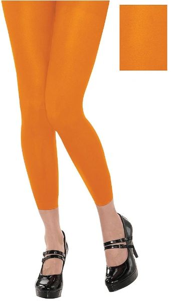 Orange Footless Tights