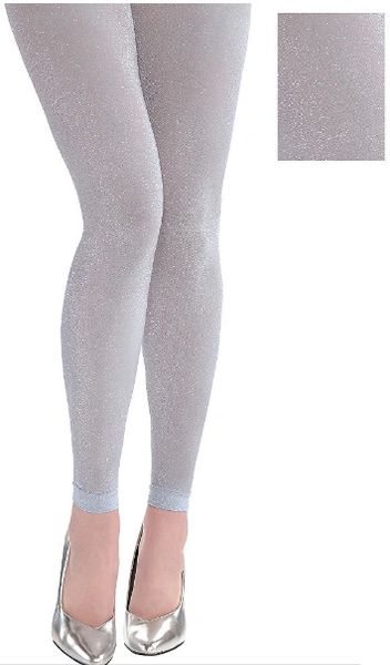 Silver Footless Tights