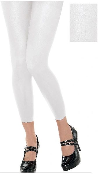 White Footless Tights