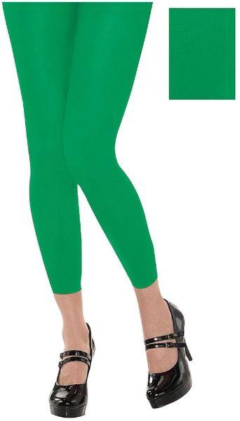 Green Footless Tights