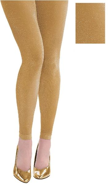 Gold Footless Tights