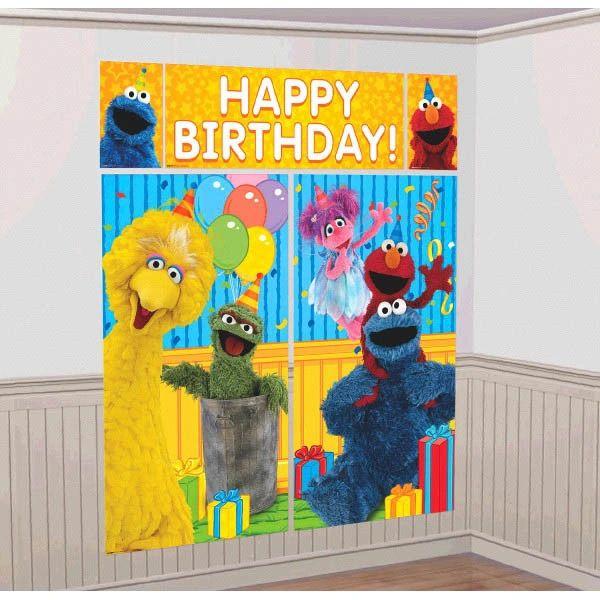 Sesame Street® Scene Setters® Wall Decorating Kit