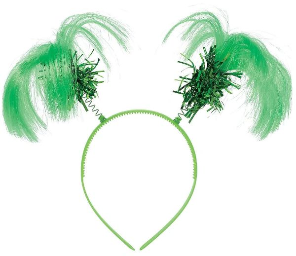 Green Ponytail Head Bopper