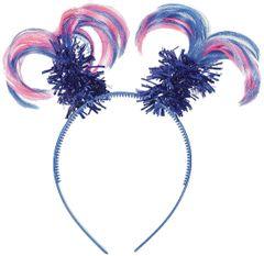 Pink & Blue Ponytail Head Bopper