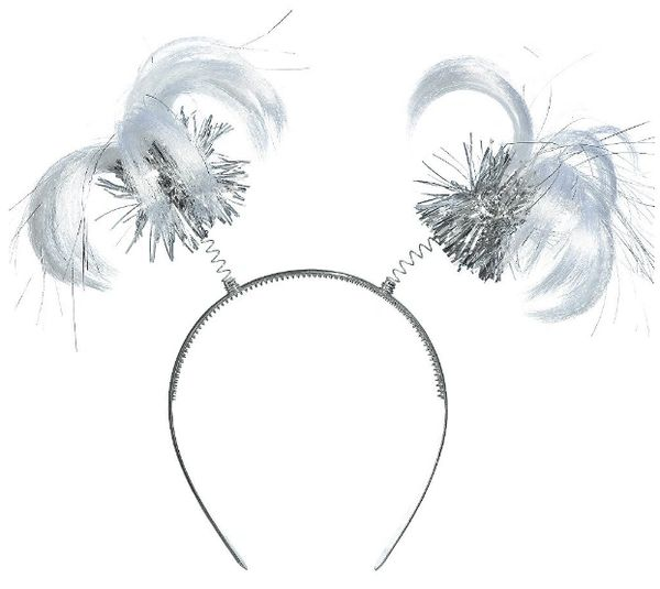 Silver Ponytail Head Bopper