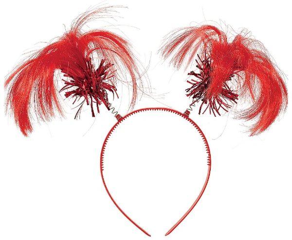 Red Ponytail Head Bopper