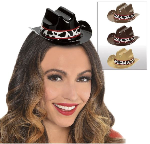 Western Mini Cowboy Hats, 8ct
