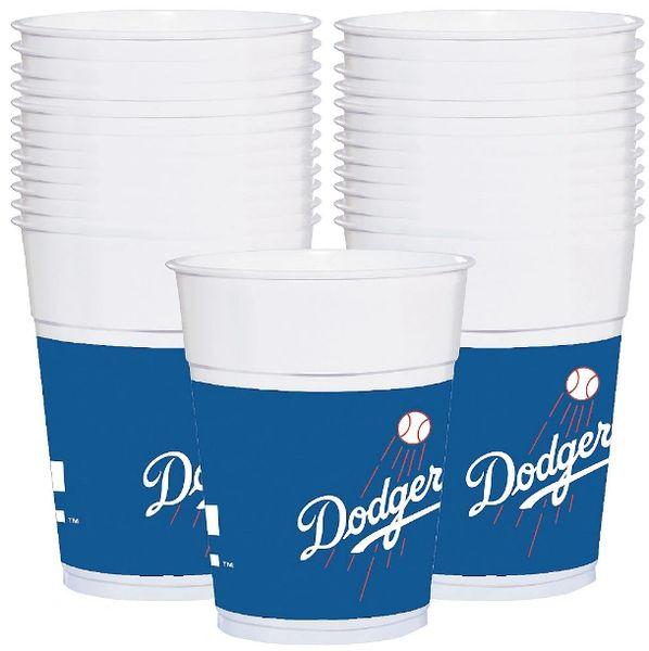 L.A. Dodgers Plastic Cups, 16oz - 25ct