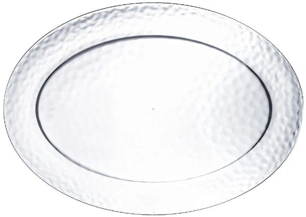 Hammered Clear Oval Platter