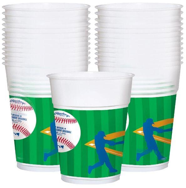 Major League Baseball Plastic Cups, 25ct
