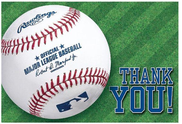 Rawlings™ Baseball Postcard Thank You Cards, 8ct