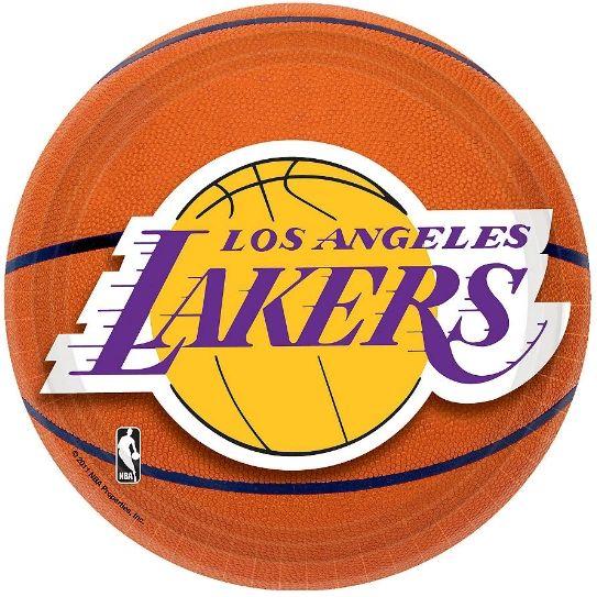 "Los Angeles Lakers Dessert Plates, 7"" - 8ct"