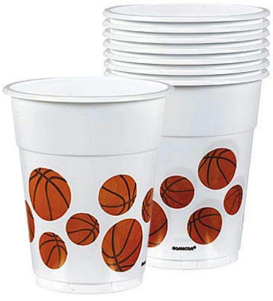 Basketball Cups, 8ct