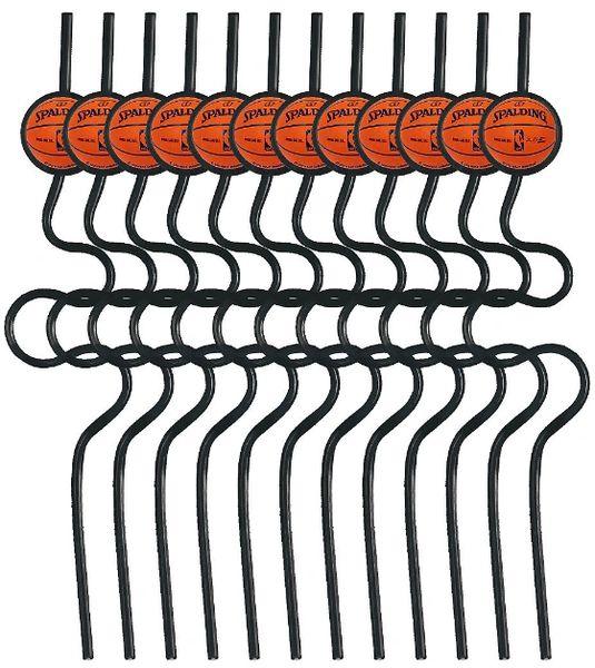 Spalding Basketball Krazy Straws, 12ct