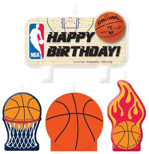 NBA Birthday Cake Candle Set, 4ct