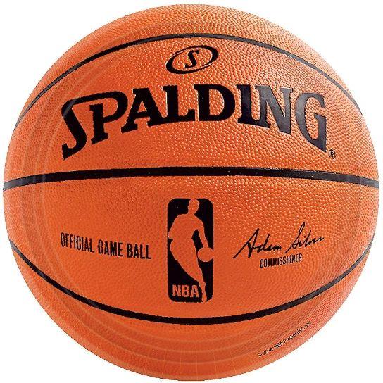 Spalding Basketball Dessert Plates, 18ct