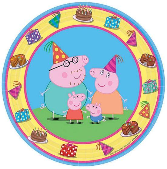 "Peppa Pig™ Dessert Plates, 7""- 8ct"
