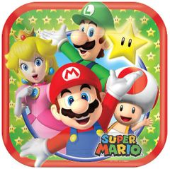 "Super Mario Brothers™ Dessert Plates, 7"" - 8ct"