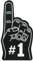 Black #1 Foam Finger