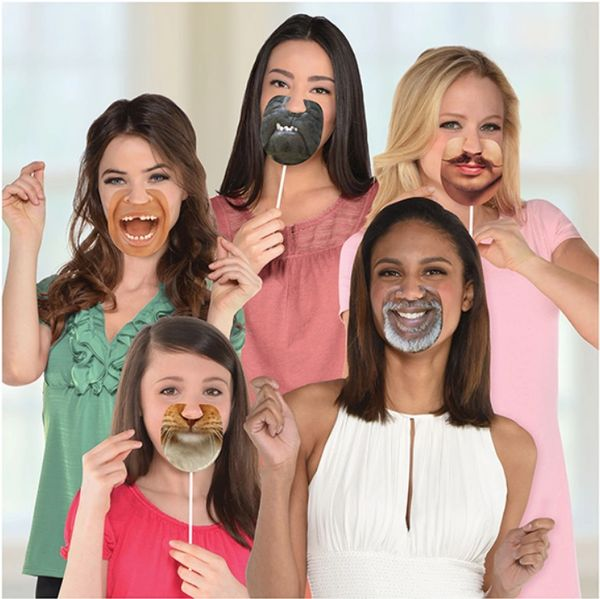 Funny Mouth Photo Props, 13ct
