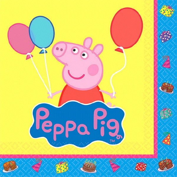 Peppa Pig™ Beverage Napkins, 16ct