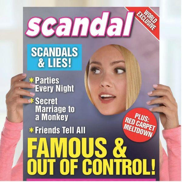 Giant Scandal Magazine Photo Prop Frame