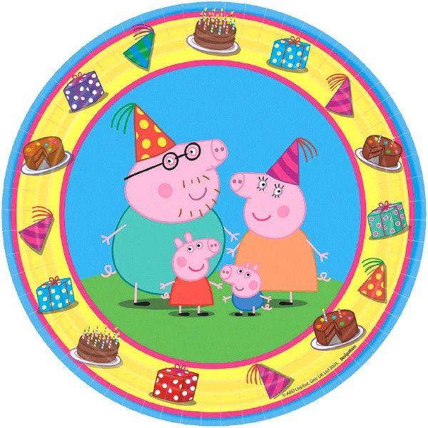 "Peppa Pig™ Round Plates, 7"""