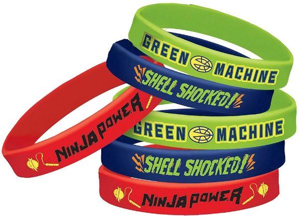 Rise of the TMNT™ Rubber Bracelet Favors, 6ct