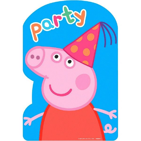 Peppa Pig™ Postcard Invitations, 8ct