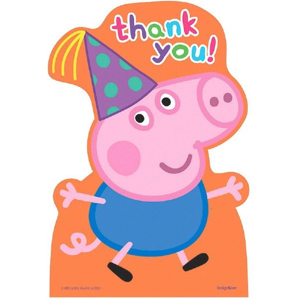 Peppa Pig™ Postcard Thank You Cards, 8ct