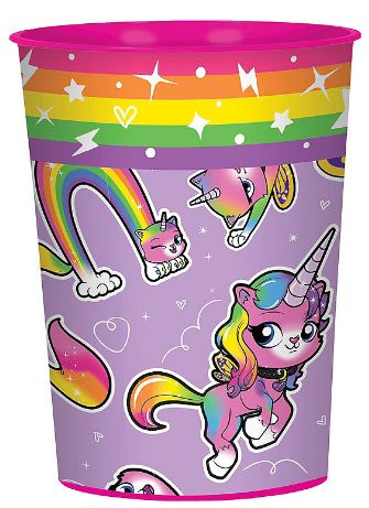Rainbow Butterfly Unicorn Kitty™ Favor Cup, 16oz