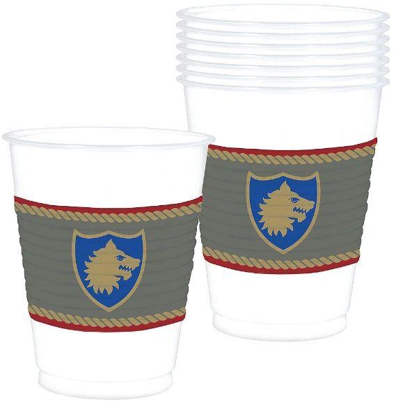 Medieval Plastic Cups, 25ct