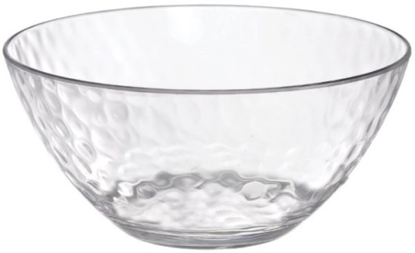 Hammered Clear Small Bowl, 24oz
