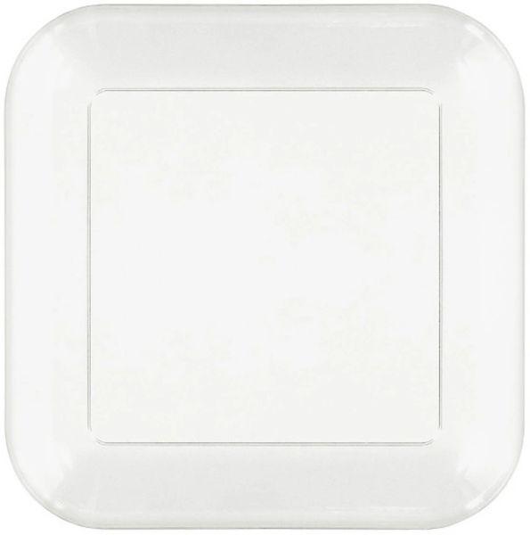 "CLEAR Plastic Square Dessert Plates, 6"" - 32ct"