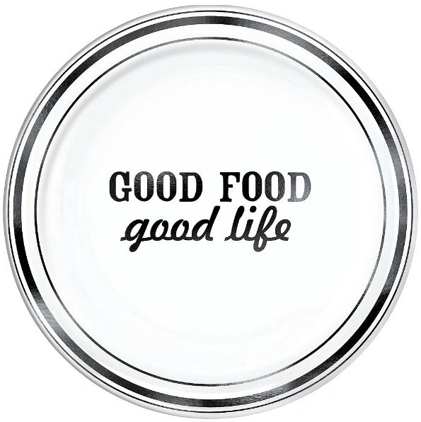 "Eat & Enjoy Round Platter, 14"""