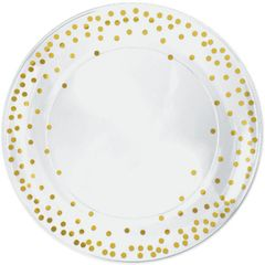 Dots Plastic Round Tray - Hot-Stamped, 14""