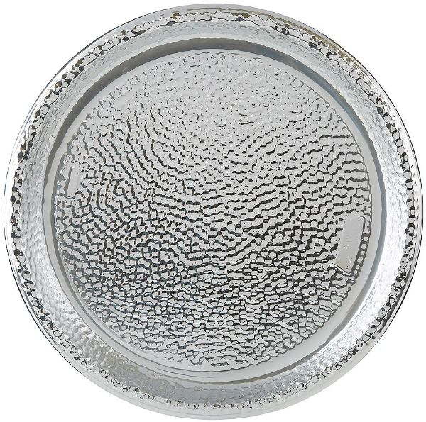 Hammered Plastic Tray - Silver