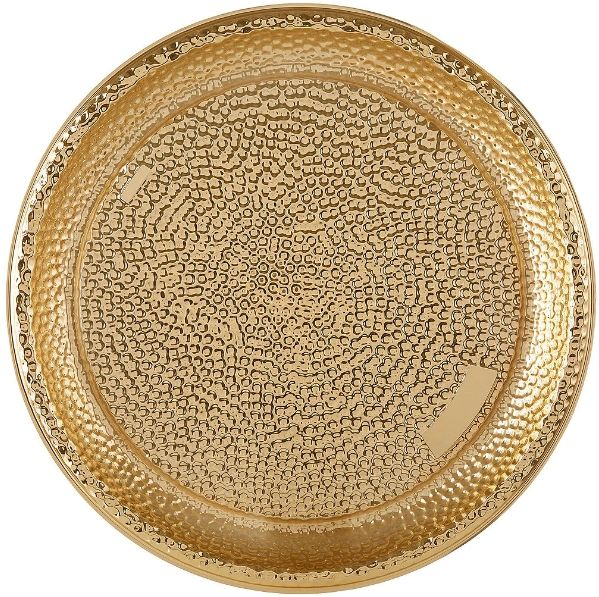 Hammered Plastic Tray - Gold