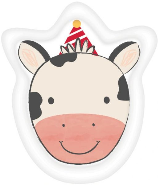 "Barnyard Birthday Cow Shaped Dessert Plates, 7"" - 8ct"