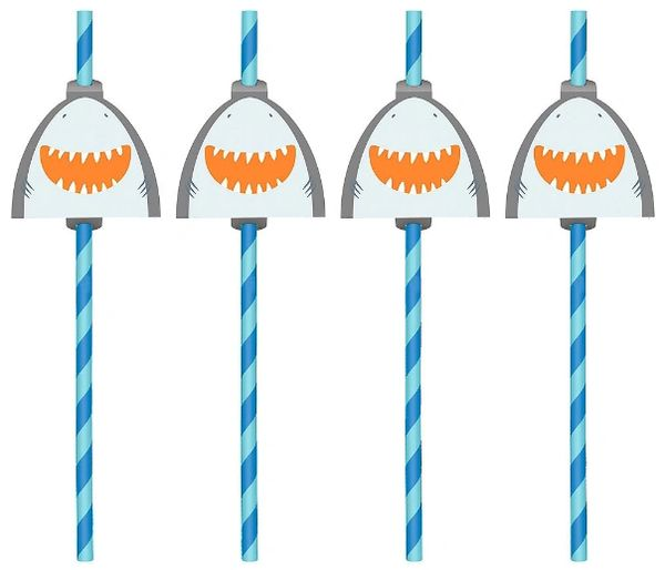 Ahoy Birthday Straws with Add Ons, 12ct