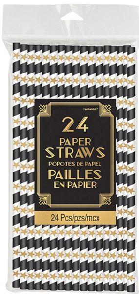 Glitz & Glam Paper Straws, 24ct