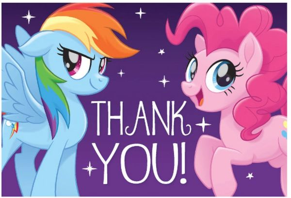 My Little Pony Friendship Adventures™ Postcard Thank You, 8ct