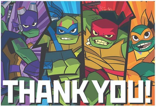 Rise of the TMNT™ Postcard Thank You Cards, 8ct